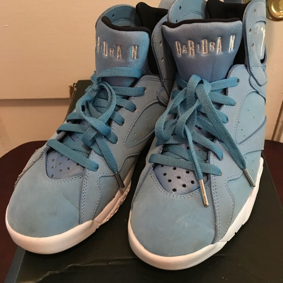 14c5a69832a8d5 Jordan Other - Jordan Retro 7 Blue size 8 Men s- blue suede!